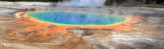 Stitched photo of the Grand Prismatic Spring, Midway Basin, Yellowstone (view on large) (Alaskan Dude) Tags: travel nature landscapes scenery yellowstonenationalpark yellowstone wyoming geysers grandprismaticspring 5photosaday midwaybasin