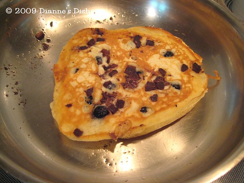 Blueberry Milk Chocolate Chunk Pancakes: Flipped