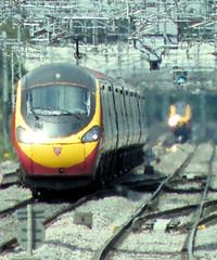 Train. Heave On - To Euston (R~P~M) Tags: uk greatbritain england electric train miltonkeynes unitedkingdom buckinghamshire railway emu bucks virgintrains