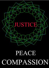 Justice, Peace, Compassion (gurdonark) Tags: green justice peace iran compassion