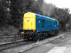 20110 Starting up at Buckfastleigh (jono85) Tags: blue heritage train chopper br sdr diesel south railway class line devon vehicle locomotive preserved 20 preservation buckfastleigh 20110 class20
