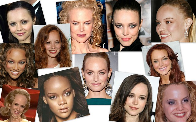 Female celebrities with big foreheads by raychylle