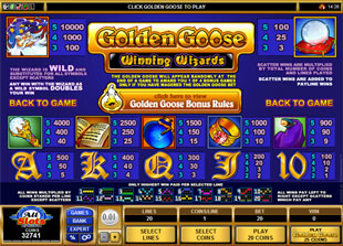 free Golden Goose Winning Wizards slot mini symbol