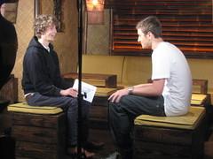 Fugative with Matt Edmondson for Sony Ericsson's Pocket TV (Pocket TV) Tags: sonyericsson fugative pockettv mattedmondson