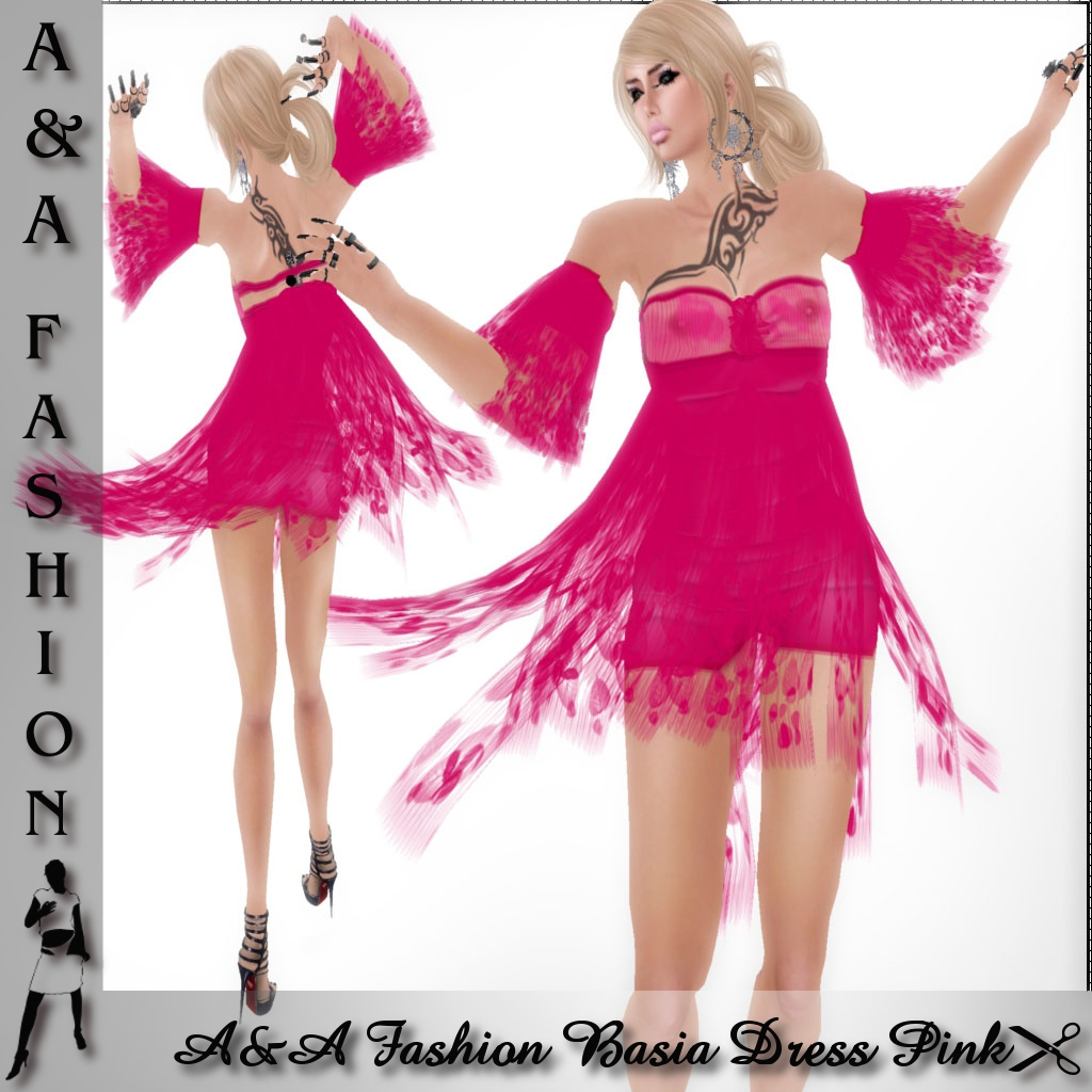 A&A Fashion Basia Dress Pink