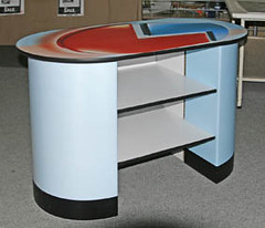 Branded counter unit from X-Board Print