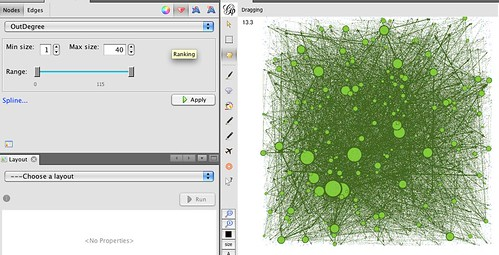 Gephi - who's commenting/favouriting