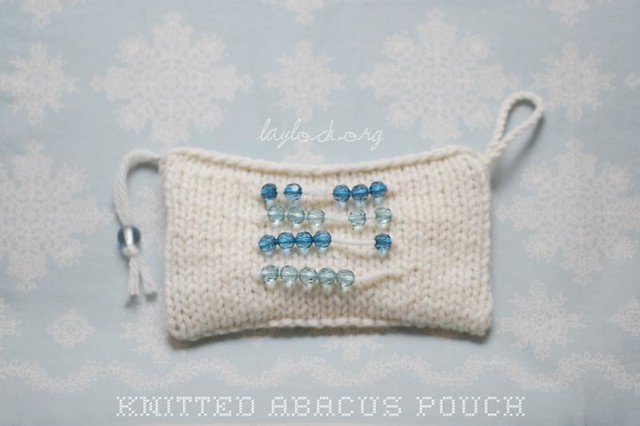 Knit Abacus Pouch