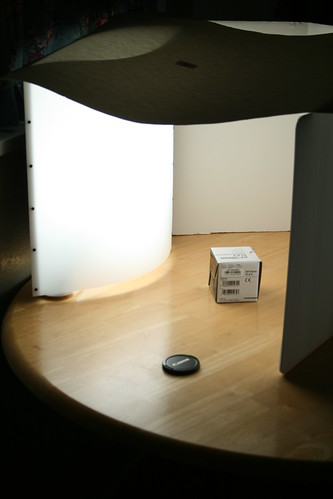 My impromptu light box