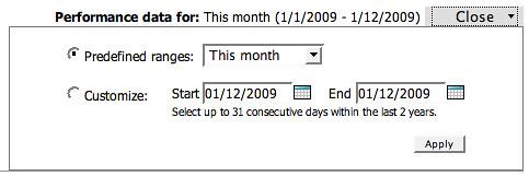 adCenter Custom Dates