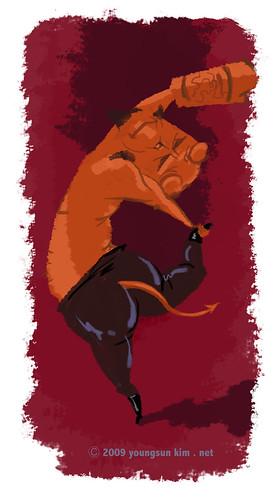 Yoga Hellboy