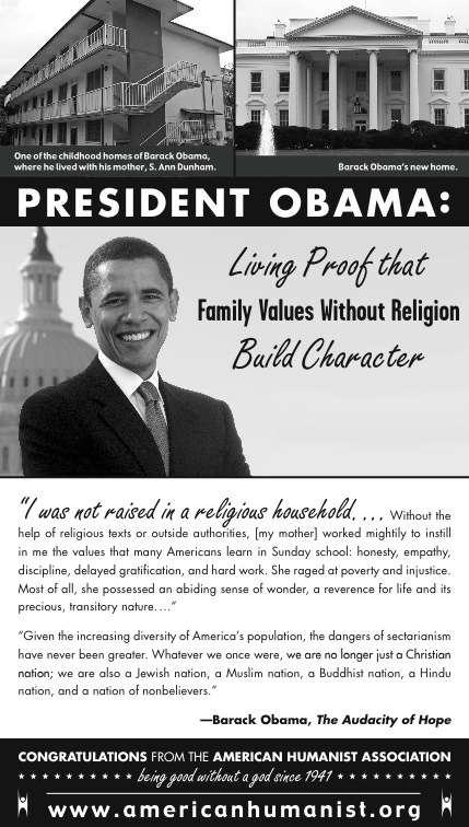 American Humanist Ad for Obama