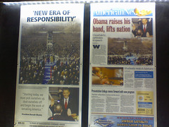 Front Pages, U.S. (Dan_DC) Tags: world news washingtondc media unitedstates politics newspapers ephemera headlines government frontpage inauguration newsprint barackobama presidency newseum