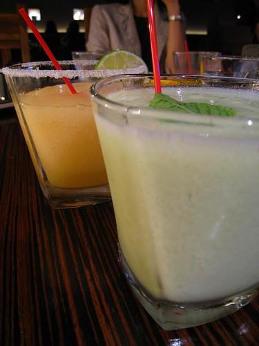 Chili & Lime Al Presidente! (front) & Tamarind Margarita (back)