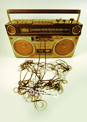 tape spewing boombox (k.cainx08) Tags: street music broken disco mono cool mess funky boom player retro pump stereo tape sound beat speaker 70s hip boombox eighties cassette seventies audio hifi breaks ghettoblaster spitting musicbox blaster listen tapeplayer spewing beatbox unraveled