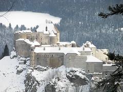 Chteau de Joux (Val Che) Tags: winter mountain snow castle montagne hiver jura neige chateau chteau mijoux doubs pontarlier joux chateaudejoux cluseetmijoux