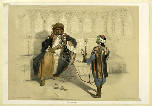 Jeque arabe fumando 1851