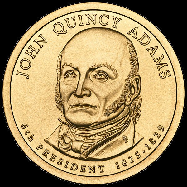 John Quincy Adams Presidential $1 Coin — Sixth President, 1825-1829