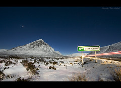 30 seconds... (Chee Seong) Tags: uk winter mountain snow grass night canon star scotland highland lanscape glenetive rannochmoor lighttrail canon1022mm longexpoure explorefrontpage explore6 400d
