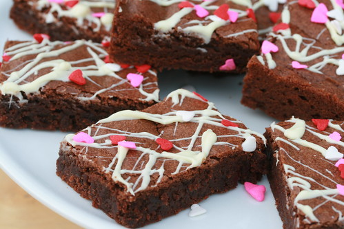 Mexican Chocolate Valentine's Brownies