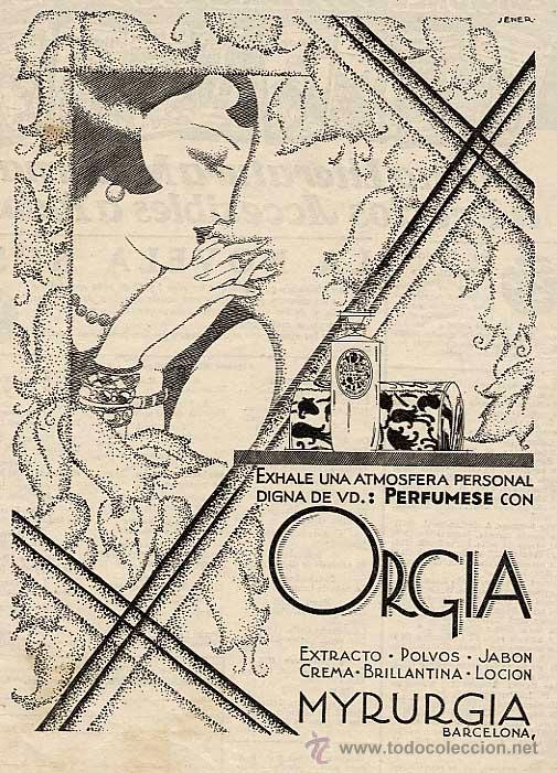 Jener, Orgia de Myrurgia Soap, 1929