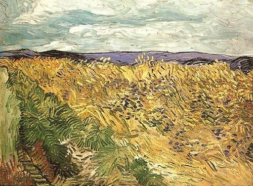 1890_Wheat_Field_with_Cornflowers