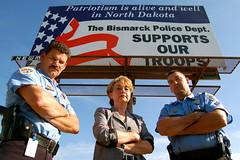 Bismarck, ND PD BadAsses (h2hliz) Tags: badass 911 police mascot hero firefighters troops morale nationaltour herotohero