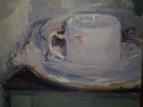 CassattwTeaCassatt, Breakfast In Bed, detail with tea