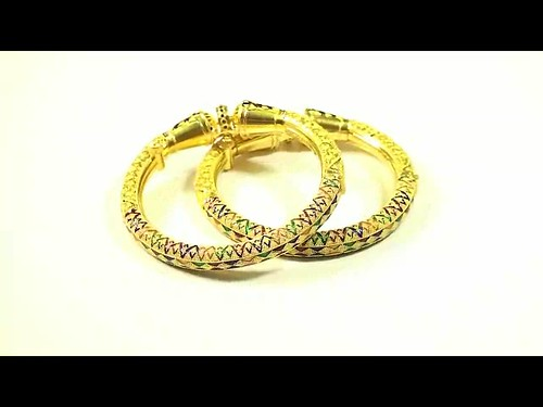 69.50g 22kt Gold Indian Jewelry Bangles 100081