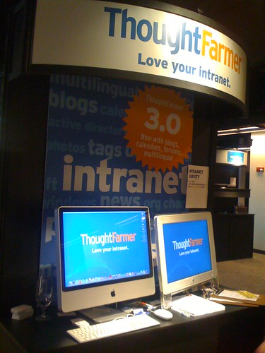 ThoughtFarmer booth at Enterprise 2.0 2008