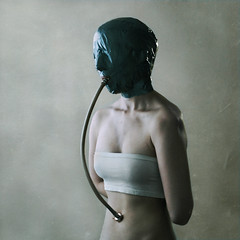 umbilical:ventilation (brookeshaden) Tags: selfportrait suck cord mask air breath pipe human species tied bound ventilation exhale inhale umbilical arduous breathingtube alltoohuman nikond80 brookeshaden