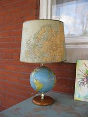 Globe Lamp (moxie-girl) Tags: light lamp vintage globe estate map retro thrift 50s worldglobe