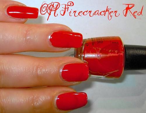 OPI Firecracker Red