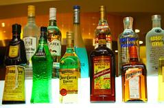 bottles of drinks (_gem_) Tags: food bar dinner mall bottles philippines tequila alcohol manila booze greenbelt makati bacardi absolute cointreau josecuervo californiapizzakitchen cpk makaticity ketelone metromanila myerssrum