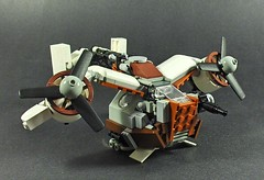 The Pigeon (Tekka Croe) Tags: lego pigeon gunship steampunk