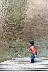 SAIF (irfan cheema...) Tags: china pakistan boy red lake texture water kid spring shanghai saif irfancheema familygetty2010