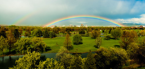 Under the rainbow, panorama