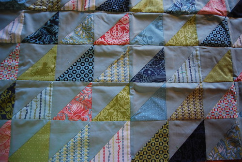 Beginnings of the Neptune quilt