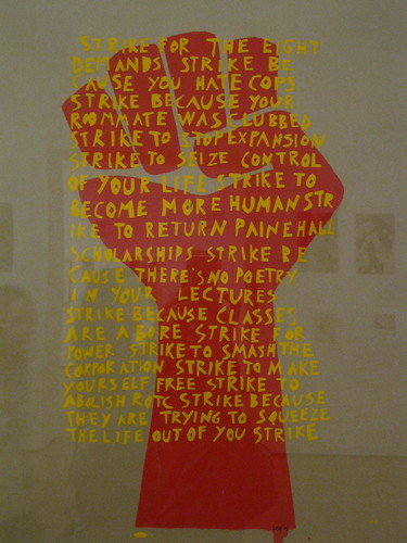 """Strike for the eight Demands"" by DayDreamPilot on flickr. Strike Poster Workshop from Harvard University 1969."