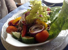 Balsamic dressed mixed salad at Bellini, Edinburgh
