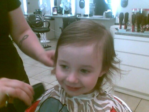 Lorelai's first haircut
