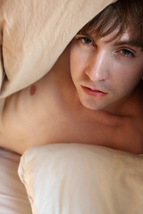 (image-is-everything) Tags: lighting morning gay light portrait sun white black male sunshine naked manchester mono bed nipple natural boxers body sleep emo sheets topless nudity playful interest alternative