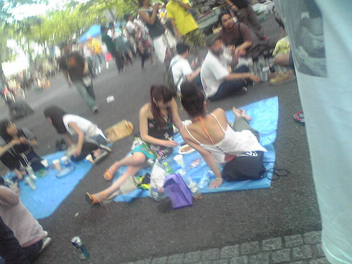 People having picnic