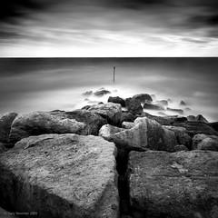 Break (Gary Newman) Tags: uk sea england bw square rocks dorset breakwater westbay nd110 d700