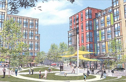 central green rendering