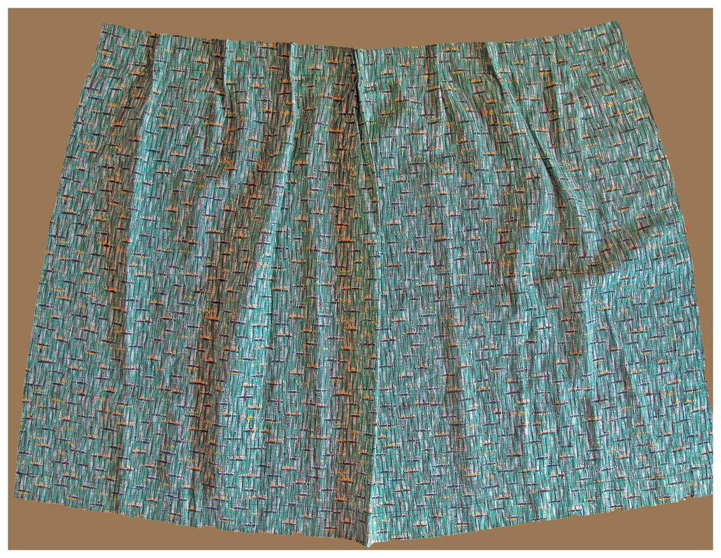 Vintage barkcloth curtain