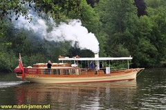 2009-05-25- 107 v1 (wm) Steam Launch Alaska on River Thames nr Marlow (Martin-James) Tags: riverthames marlow riverview steampowered thamesview bourneend jeromekjerome steamships historicships threemeninaboat victorianboat historicboatalaska salterbrothers thamesideview