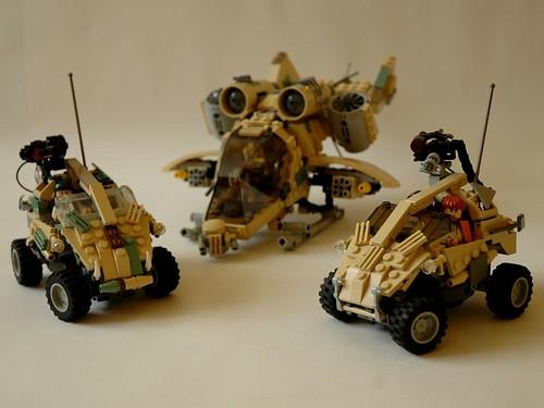 Sci Fi desert vehicle