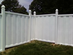 Vinyl solid privacy fence