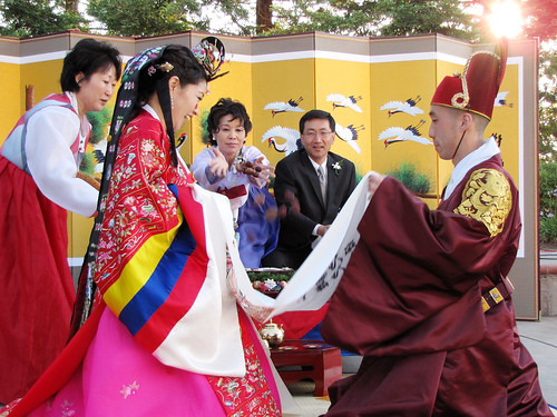 Korean Wedding: Throwing Plums
